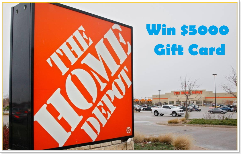 home depot survey prize