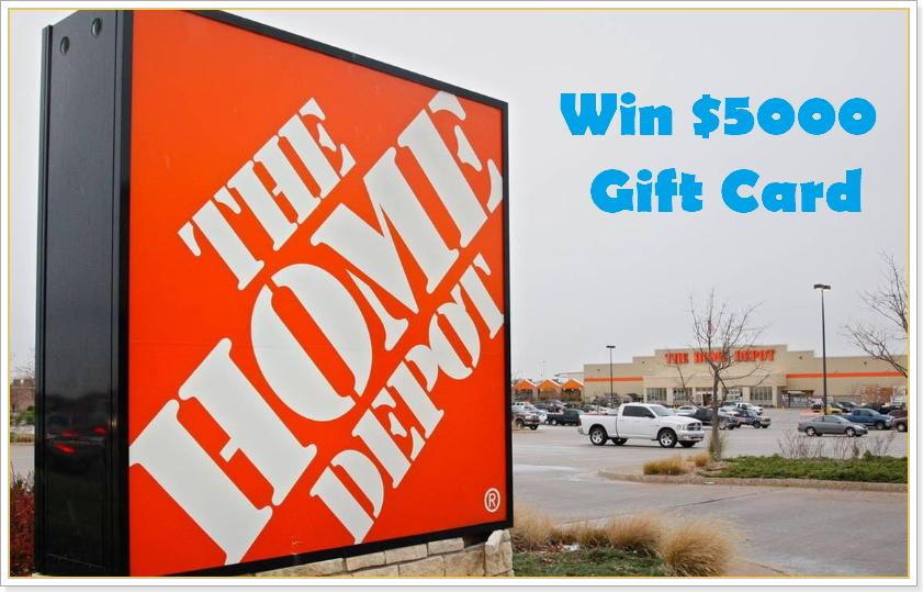home depot survey prize